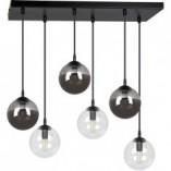 Nowoczesna Lampa wisząca szklane kule Cosmo VI grafitowo-przezroczysta Emibig nad stół