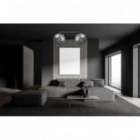 Designerski Plafon kierunkowy szklany Tofi II czarno-grafitowy Emibig do sypialni i salonu