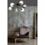 Stylowa Lampa sufitowa szklane kule Brendi VIB czarny/multikolor Emibig do salonu i jadalni