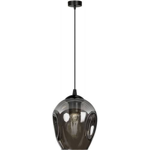 Nowoczesna Lampa wisząca szklana Istar 14 czarno-grafitowa Emibig do kuchni i salonu