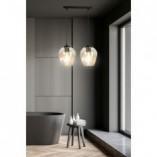 Nowoczesna Lampa wisząca szklana podwójna Istar II czarno-miodowa Emibig do kuchni i salonu