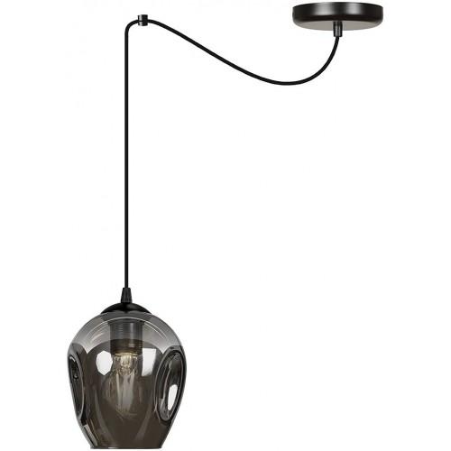 """Nowoczesna Lampa wisząca szklana """"pająk"""" Level 14 czarno-grafitowa Emibig do kuchni i salonu"""