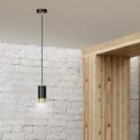 Nowoczesna Lampa wisząca punktowa Fumiko 8 czarno-złota Emibig do kuchni i salonu
