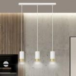 Nowoczesna Lampa wisząca potrójna punktowa Fumiko III biało-złota Emibig nad stół