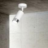 Regulowany Reflektor kierunkowy Hiro biało-chromowany Emibig do przedpokoju i kuchni