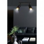 Regulowany Reflektor sufitowy podwójny Hiro II czarno-złoty Emibig do przedpokoju i kuchni