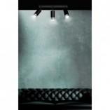 Regulowany Reflektor sufitowy potrójny Hiro III czarno-chromowany Emibig do przedpokoju i kuchni