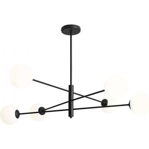 Designerska Lampa sufitowa szklane kule Homme Black VI biało-czarna Aldex do salonu i jadalni