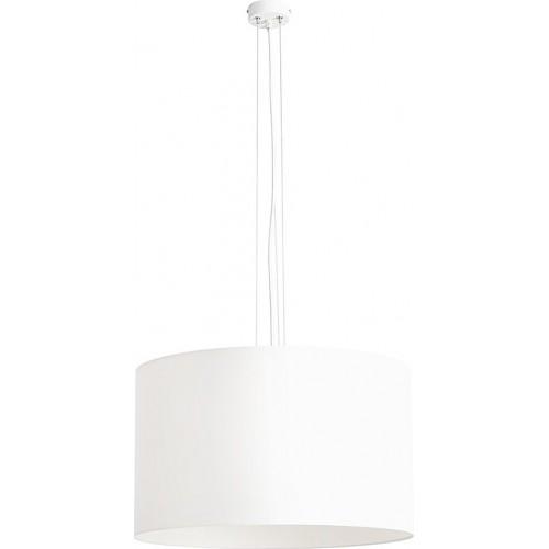 Designerska Lampa wisząca z abażurem Barilla White 50 biała Aldex do salonu