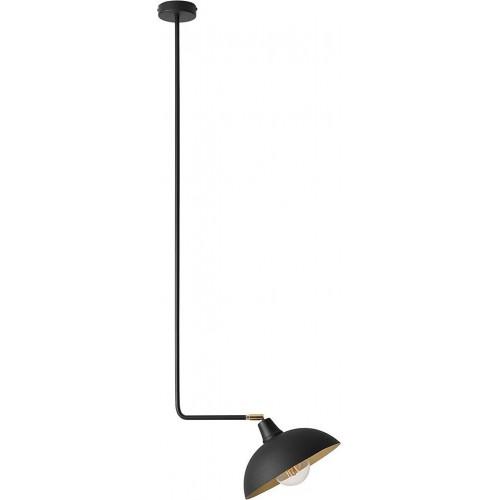 Stylowa Lampa sufitowa na wysięgniku Escape Long Black czarna Aldex do salonu i jadalni