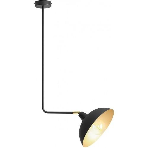 Stylowa Lampa sufitowa na wysięgniku Escape Short Black czarna Aldex do salonu i jadalni