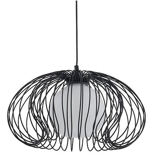 Dekoracyjna Lampa druciana wisząca Mersey 44 Czarna Nowodvorski do salonu