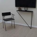 Designerska Konsola metalowa Object036 czarna NG Design do salonu i przedpokoju