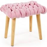 Taboret z plecionym siedziskiem Yeti różowy Halmar dla dziewczynki