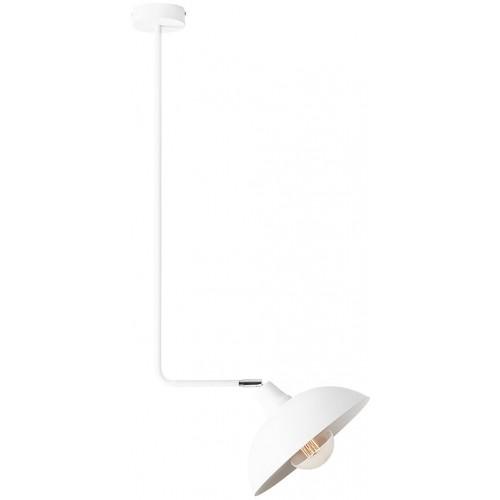 Skandynawska Lampa sufitowa na wysięgniku Escape Short White biała Aldex do salonu