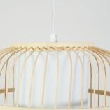 Lampa wisząca bambusowa boho Bones 30 naturalny/biały Brilliant do salonu