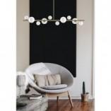 Designerska Lampa wisząca szklane kule Milky Drop 120 biało-złota Step Into Design do jadalni