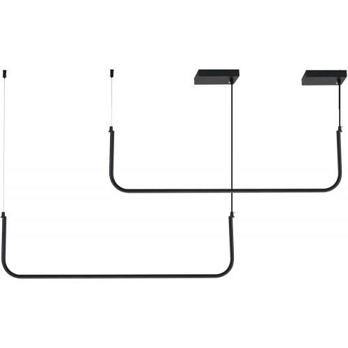 Designerska Lampa wisząca podłużna Minima LED 80 czarna Step Into Design do jadalni