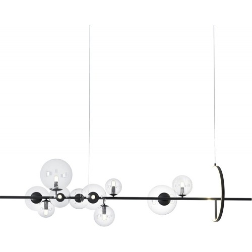 Designerska Lampa wisząca szklane kule Orion Long 120 czarna Step Into Design do jadalni