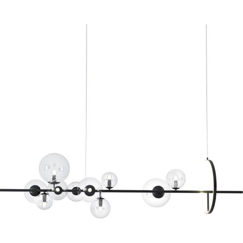 Designerska Lampa wisząca szklane kule Orion Long 90 czarna Step Into Design do jadalni