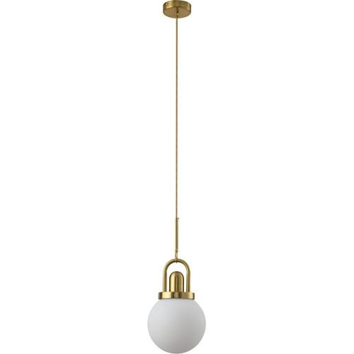 Designerska Lampa wisząca szklana glamour Pearl 20 biało-złota Step Into Design do jadalni