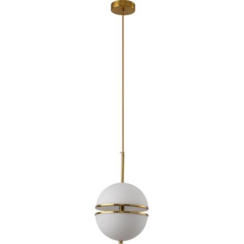 Designerska Lampa wisząca kula glamour Sfera 20 biało-złota Step Into Design do jadalni