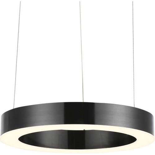 Designerska Lampa wisząca okrągła Circle LED 40 tytanowa Step Into Design do jadalni