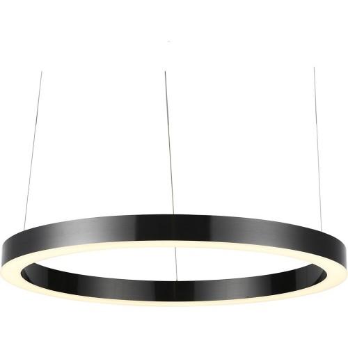 Designerska Lampa wisząca okrągła Circle LED 100 tytanowa Step Into Design do jadalni