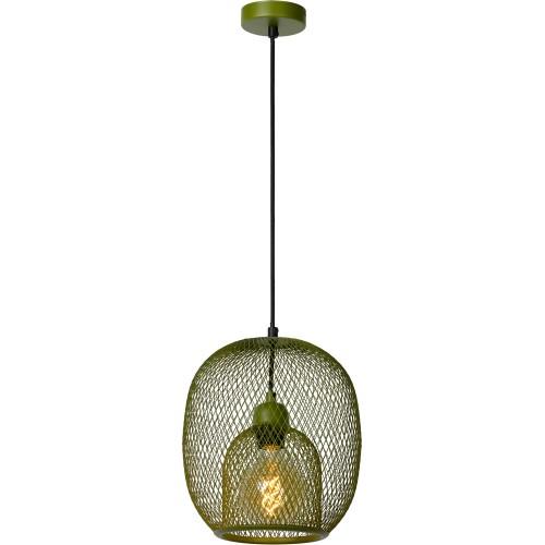 Lampa wisząca ażurowa Jerrel 25 zielona Lucide do jadalni i salonu