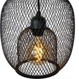 Lampa wisząca ażurowa Jerrel 25 czarna Lucide do jadalni i salonu