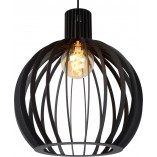 Lampa wisząca druciana kula Mikaela 35 czarna Lucide do jadalni i salonu