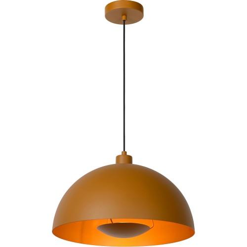 Designerska Lampa wisząca Siemon 40 żółta Lucide do salonu