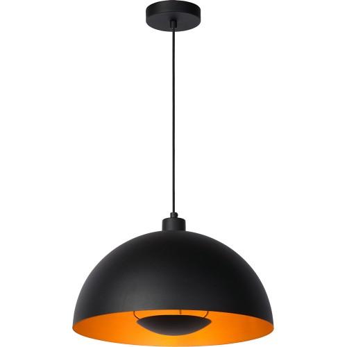 Designerska Lampa wisząca Siemon 40 czarna Lucide do salonu