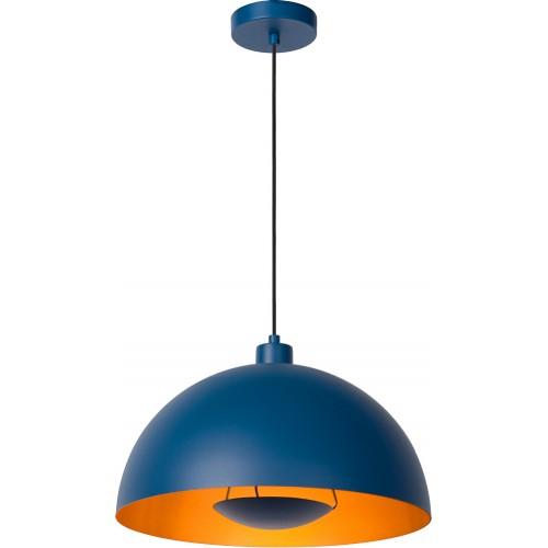Designerska Lampa wisząca Siemon 40 niebieska Lucide do salonu