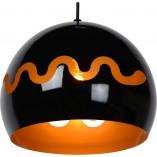 Designerska Lampa wisząca kula dekoracyjna Corentin 28 czarny połysk Lucide do salonu