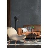 Designerska Lampa podłogowa regulowana Dome czarna Lucide do czytania w salonie
