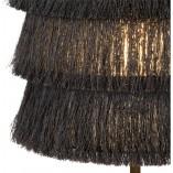 Lampa stołowa z frędzlami boho Togo szara Lucide na stolik nocny