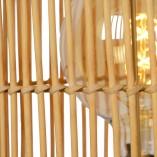 Designerska Lampa podłogowa rattanowa boho Jantine 30 Lucide do salonu