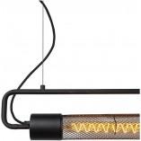 Designerska Lampa wisząca podłużna loft Calixt 122 czarna Lucide do salonu