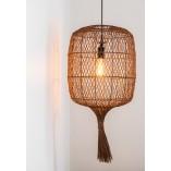 Designerska Lampa wisząca rattanowa Garve 40 naturalny Lucide do salonu