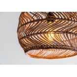 Designerska Lampa wisząca rattanowa boho Moloko 40 Lucide do salonu