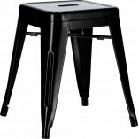 Stylowy Taboret metalowy Paris czarny D2.Design do kuchni i przedpokoju.