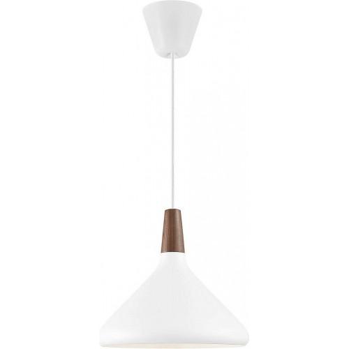 Lampa wisząca skandynawska z drewnem...