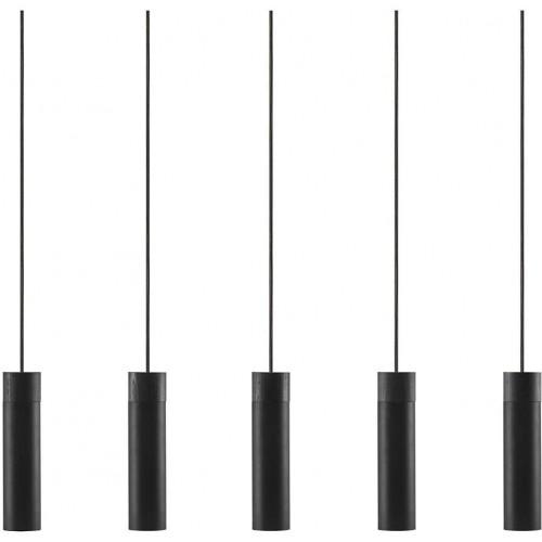 Lampa wiszące tuby Tilo V czarna Nordlux