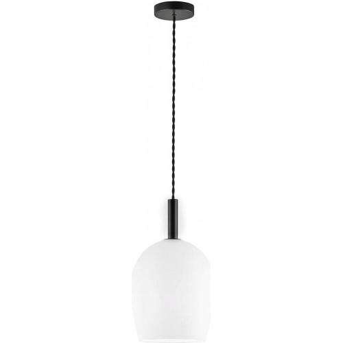 Lampa wisząca szklana Uma 18 biały...