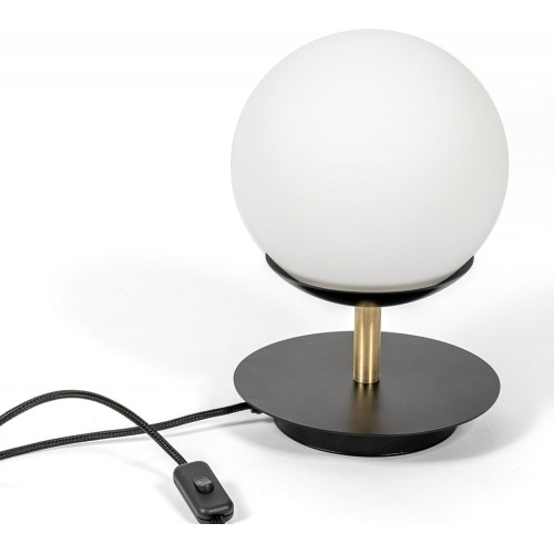 Lampa stołowa szklana kula Plaat...