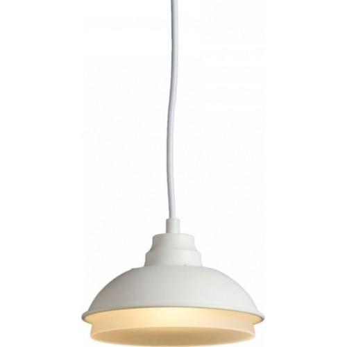 Industrialna Lampa wisząca designerska Ozi 15 Biała do sypialni