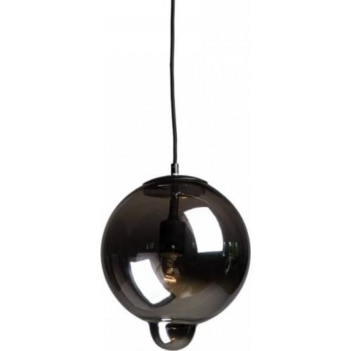 Designerska Lampa wisząca szklana kula Sila 27 Szkło dymione Przeźroczysta do salonu i recepcji.