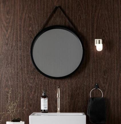 Mosiężny kinkiet łazienkowy w stylu glamour Menton Markslojd