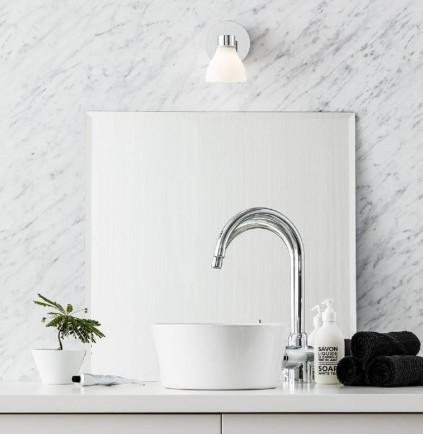 Biały kinkiet szklany łazienkowy w stylu nowoczesnym Cassis Markslojd